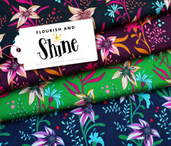 Albstoffe Shine - Flourish and Shine Schwarz