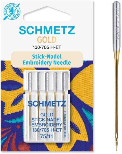 SCHMETZ Gold Stick-Nadel 130/705 H-ET SB5 Stärke: