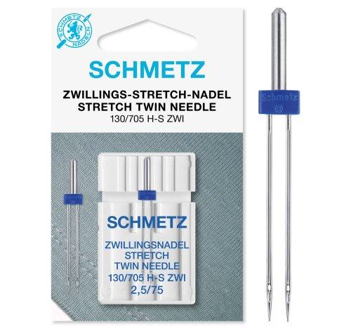 SCHMETZ Zwillings-Stretch-Nadeln 2,5/75 | 130/705 H-S ZWI