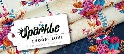 Albstoffe Sparkle - Choose Love