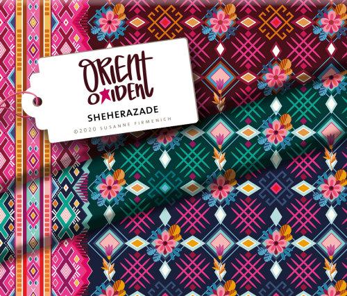 Albstoffe Orient Oxident - Sheherazade grün