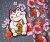 Albstoffe Sakura - Meneki Neko Panel Sweat