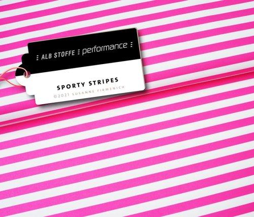 Albstoffe Performance - Sporty Stripes von Hamburger Liebe Rosa