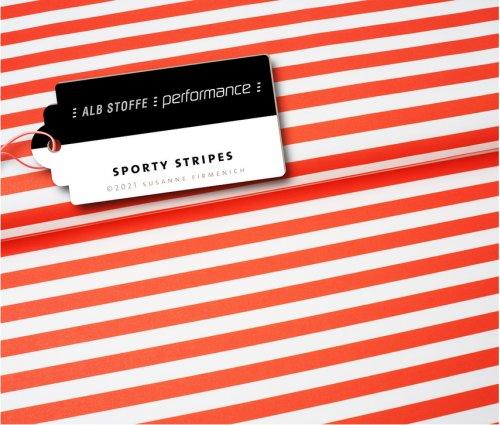Albstoffe Performance - Sporty Stripes von Hamburger Liebe Orange