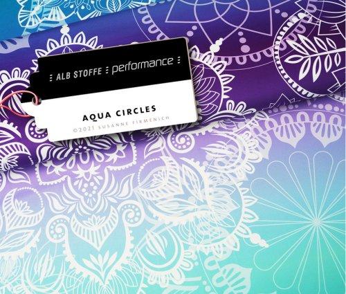 Albstoffe Performance - Aqua Circles von Hamburger Liebe Blau/Türkis