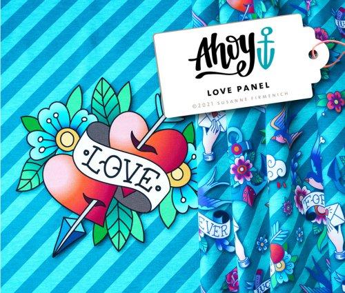 Albstoffe Ahoy - LOVE Panel
