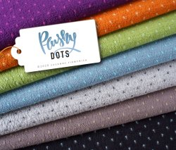 Albstoffe Plushy Dots dunkelgrau